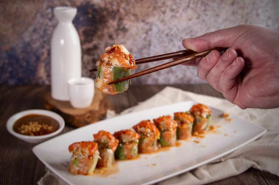 """LaVui Vietnamese Restaurant is operated by the same family who runs sushi restaurant Oishii. The chefs at LaVui have taken the popular sushi rolls at Oishii and have """"reinvented"""" them as spring rolls wrapped in rice paper."""