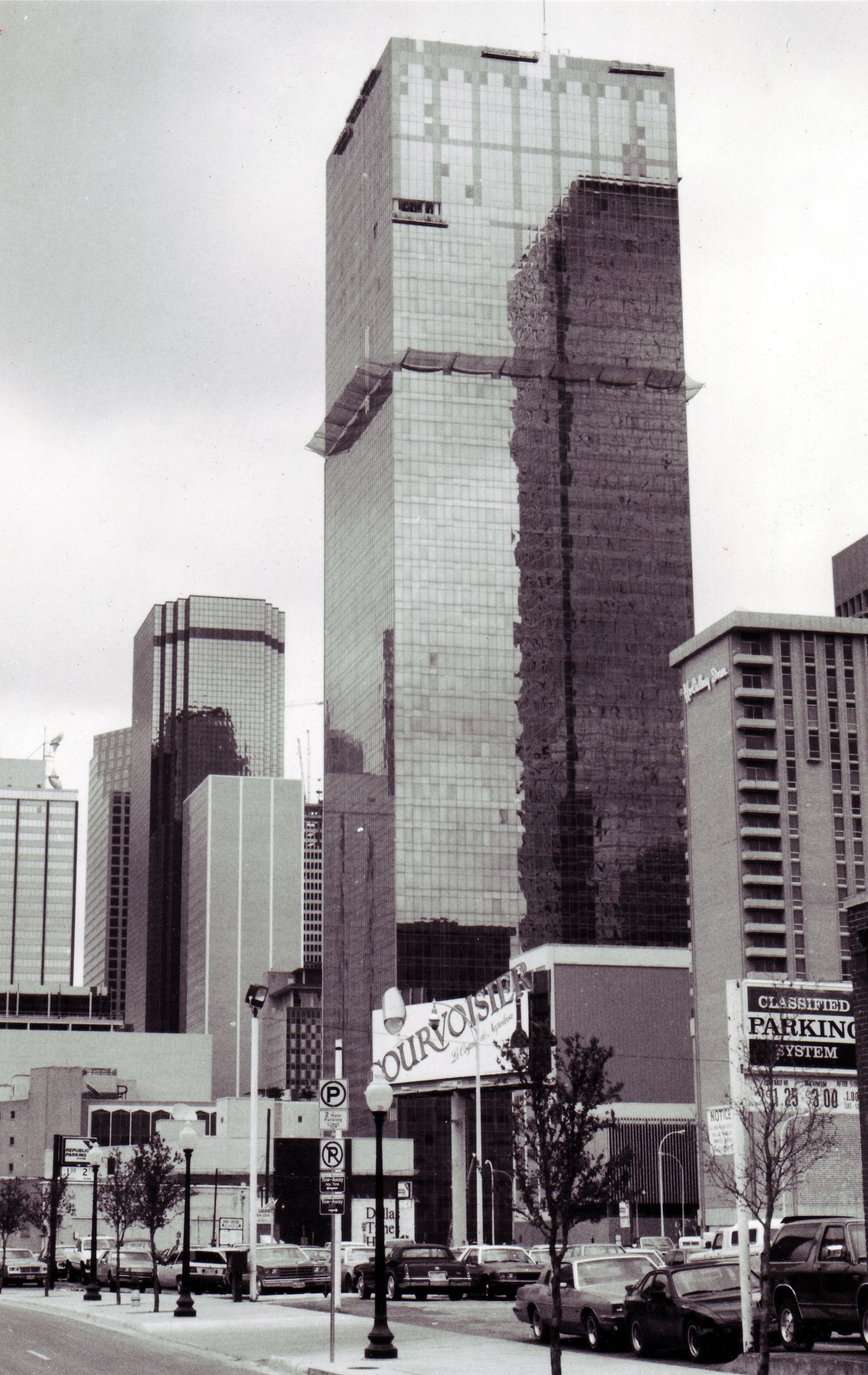 The 56-story Renaissance Tower — originally First International Tower — got a new exterior in 1986.