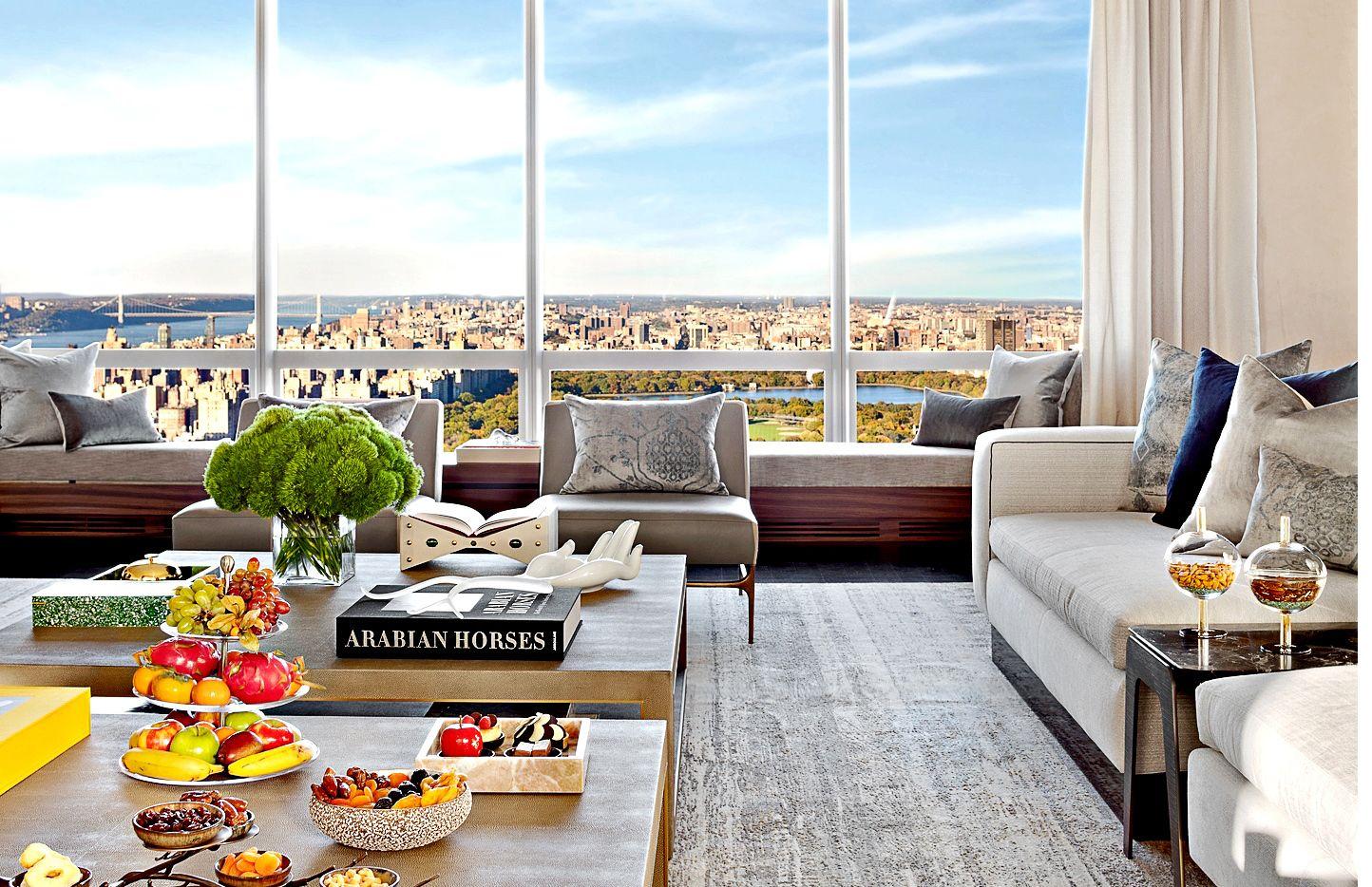 The Manhattan Sky Suite, del hotel Park Hyatt, se encuentra en el piso 59 de la torre One57, en Nueva York, Estados Unidos, y ofrece bellas vistas panorámicas de Central Park.