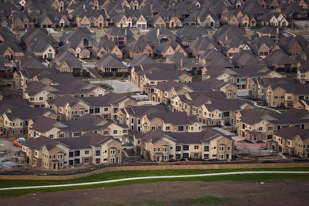 New housing at US 380 and Preston Road photographed on Monday, March 6, 2017, in Frisco, Texas. 2 1/2 miles of Highway 380 at the Frisco/Prosper border are being upgraded to a six-lane freeway with access roads. The $60 million project extends from the Collin-Denton county border to just east of Preston Road. Multi-level overpasses will eventually be built at the intersections with the Dallas North Tollway and Preston Road.  (Smiley N. Pool/The Dallas Morning News)