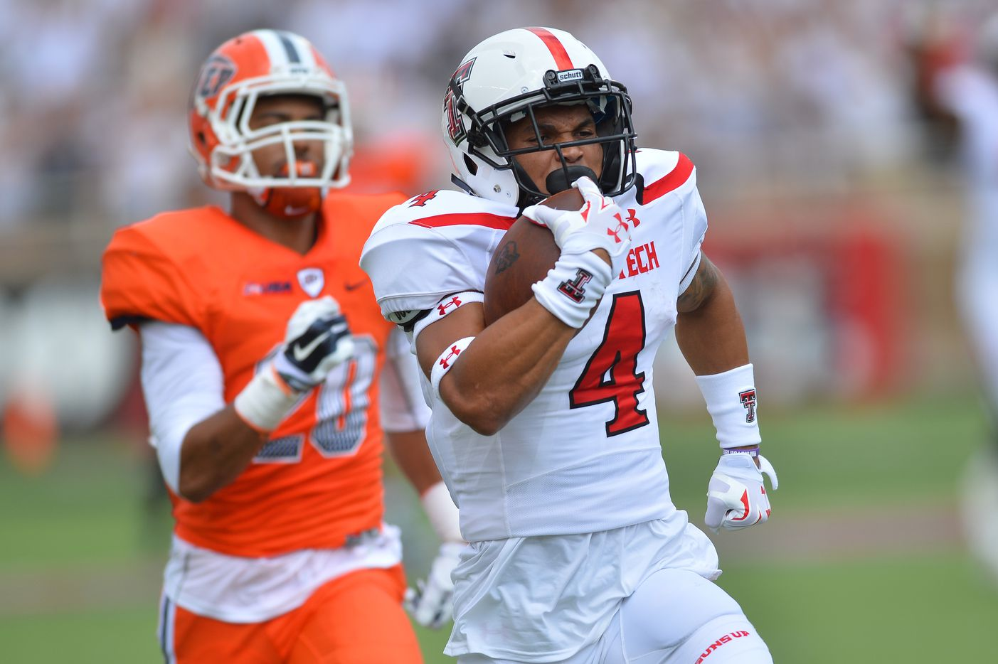 JUSTIN STOCKTON / Junior RB / 5-foot-10, 200 pounds / 2015 stats: Appeared in 13 games, 61 rushing attempts for 367 yards and 5 touchdowns, 22 receptions for 341 yards / Notable: Justin Stockton seems to be the starting running back for the Red Raiders heading into the 2016 season. Stockton was the backup to former back-to-back 1,000-yard rusher DeAndre Washington and has experience in games. However, the question looms if Stockton can carry a heavy workload like Washington was able to do. But with his speed in the open field and ability to rack up yardage after a reception, Stockton can be a force to be reckoned with in the Tech offense.