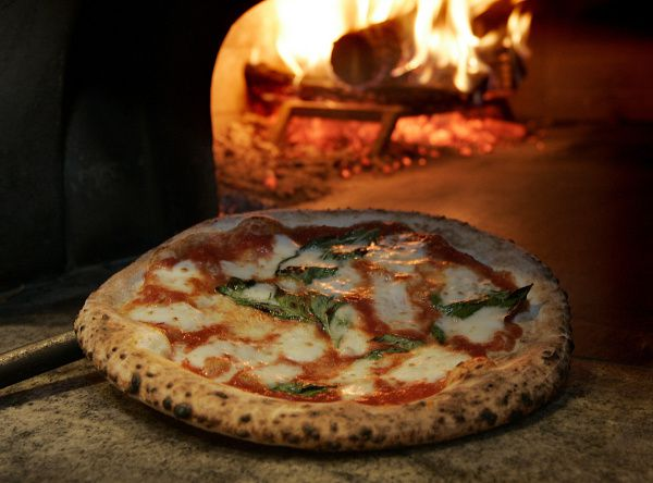 Cavalli Pizza cooks their Neopolitan-style pizzas in a 900-degree oven for 90 seconds.