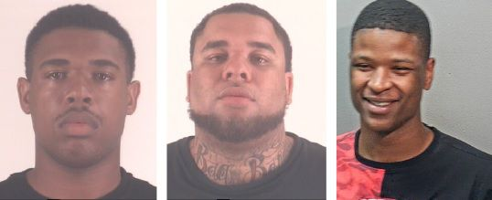 Dcameron McKellar (left) and Kristopher Robinzine (middle) each face a charge of aggravated assault with a deadly weapon in connection with a May 10 shooting at Village Creek Park that injured five people. Kieston Allen (right) is also in custody in connection with the shooting and faces a charge of making a terroristic threat.