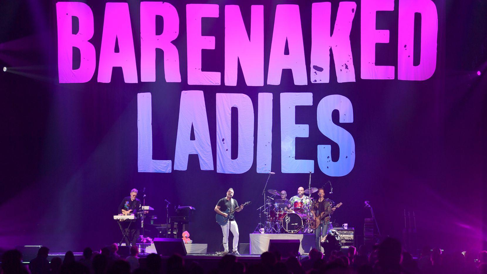 Kevin Hearn, Ed Robertson, Tyler Stewart and Jim Creeggan of the Barenaked Ladies perform at Bridgestone Arena on Sept. 7, 2019, in Nashville.