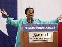 U.S. Representative Sheila Jackson Lee speaks at the Texas delegation breakfast during day four of the Democratic National Convention on Thursday, July 28, 2016 at the Philadelphia Airport Marriott in Philadelphia, Pennsylvania. (Ashley Landis/The Dallas Morning News)