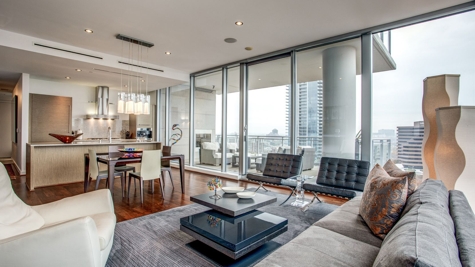 Housekeeping, dogwalkers and a stellar location are some of the amenities at Azure in Uptown. Unit 1205 has two bedrooms and 2½ bathrooms and is listed at $845,000.