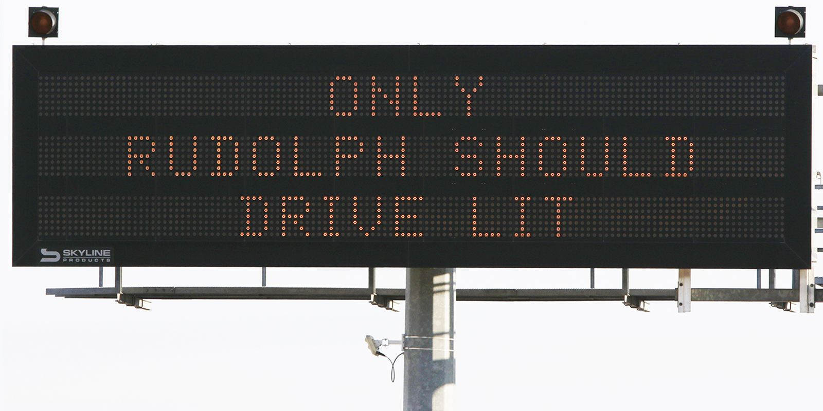 "TXDOT's Christmas sign"" ONLY RUDOLPH SHOULD DRIVE LIT, DRINK AND DRIVE YULE BE SORRY"" on Highway 67 in Dallas on Dec. 25, 2019. (Irwin Thompson/The Dallas Morning News."
