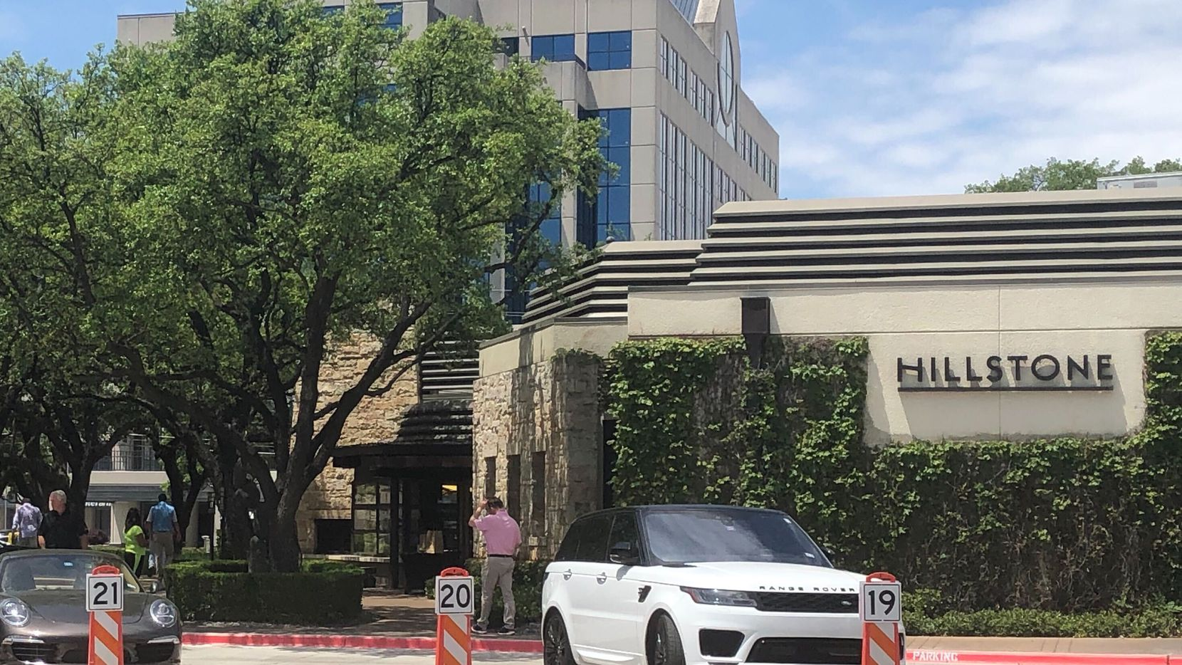 The exterior of restaurant Hillstone on Preston Road and Northwest Highway in Dallas on May 5, 2020.