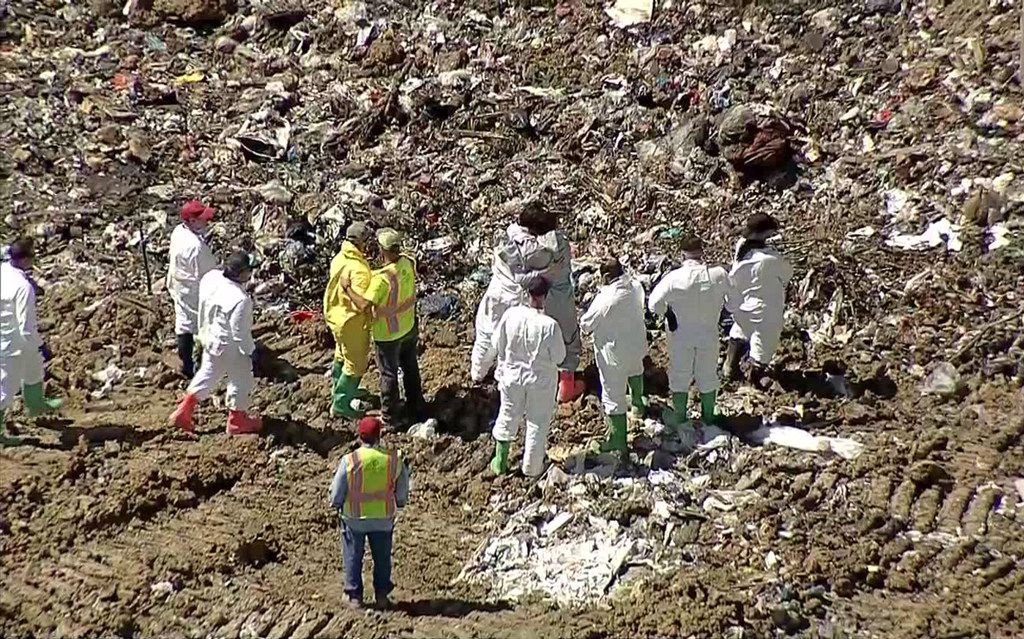 Investigators searched for the body of 18-month-old Cedrick Jackson on July 11  at the C.M. Hinton Jr. Regional Landfill and Wood Recycling Facility near Garland and Rowlett.