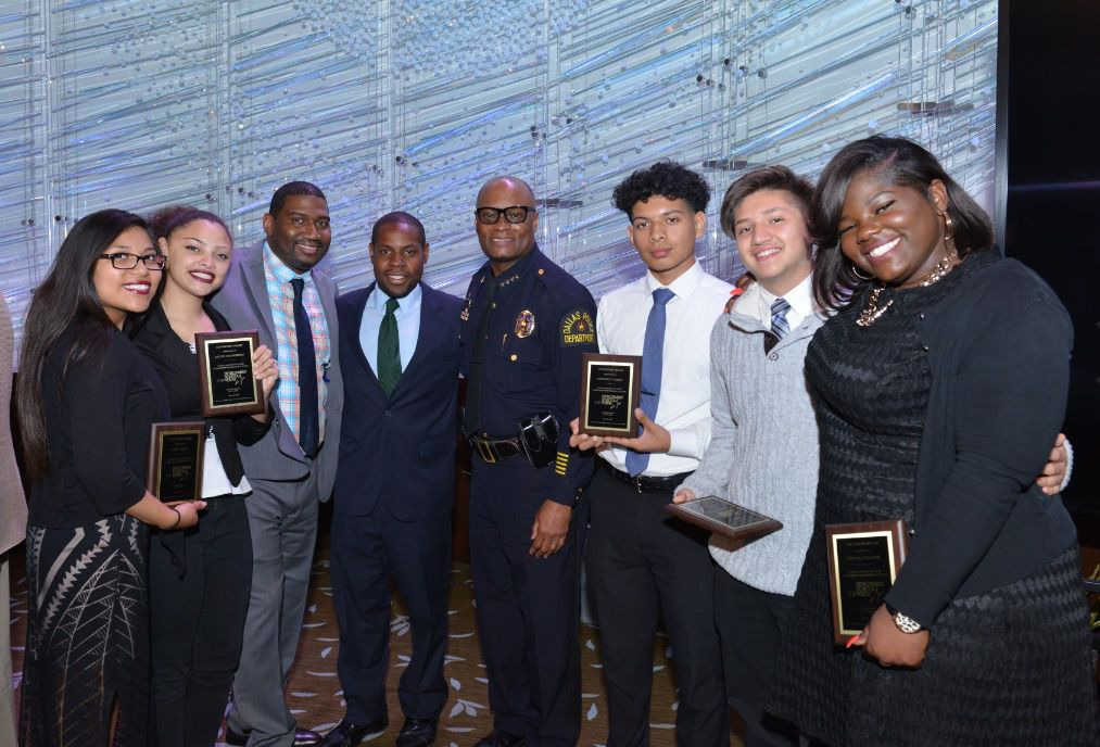 David Brown, former Dallas police chief and current Chicago police superintendent, was the keynote speaker for the All Stars Project Celebration of Development. He's pictured here with past graduates, pre-pandemic.