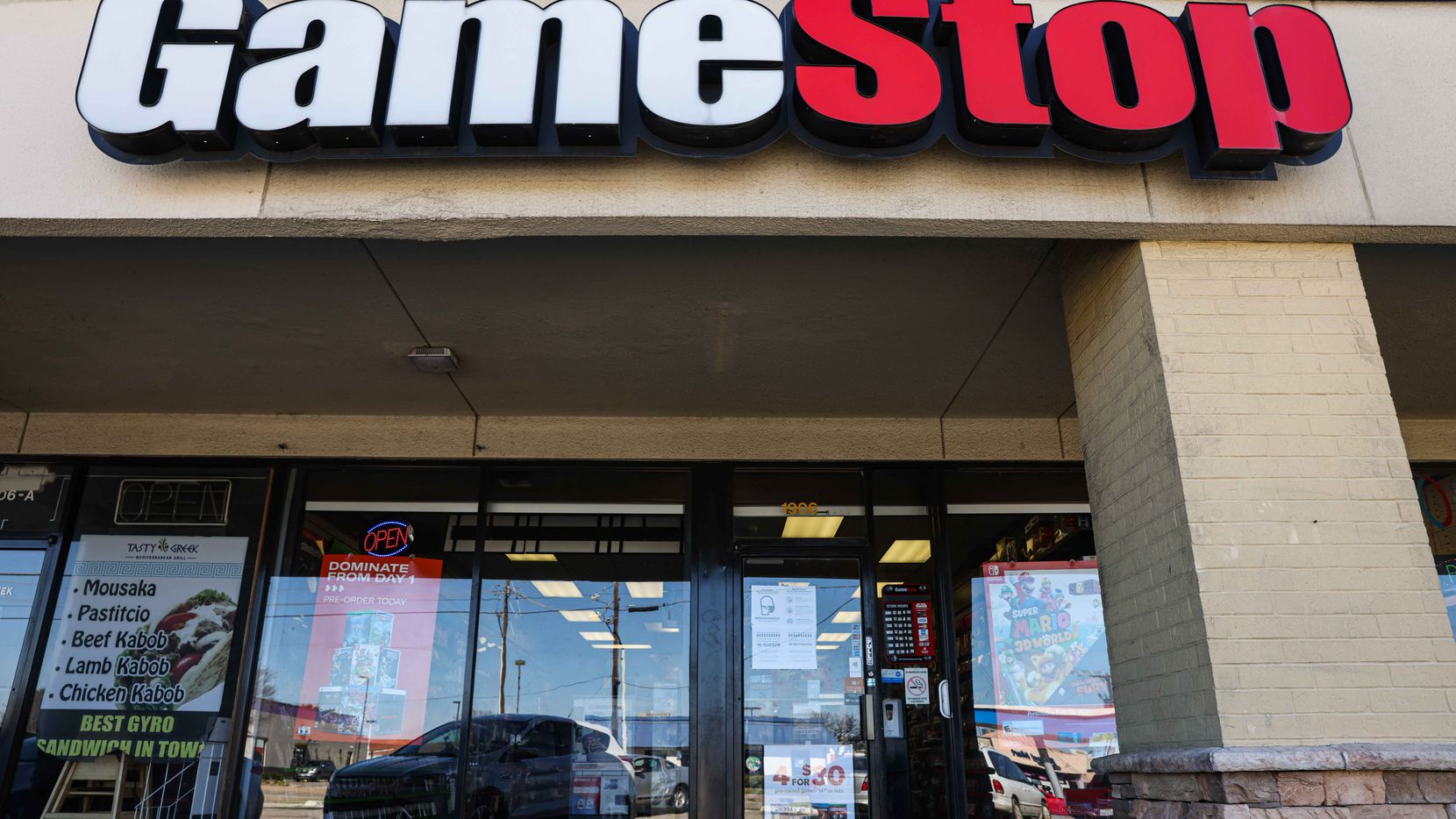 A GameStop at Carrollton Park in Carrollton is shown on Jan. 30.