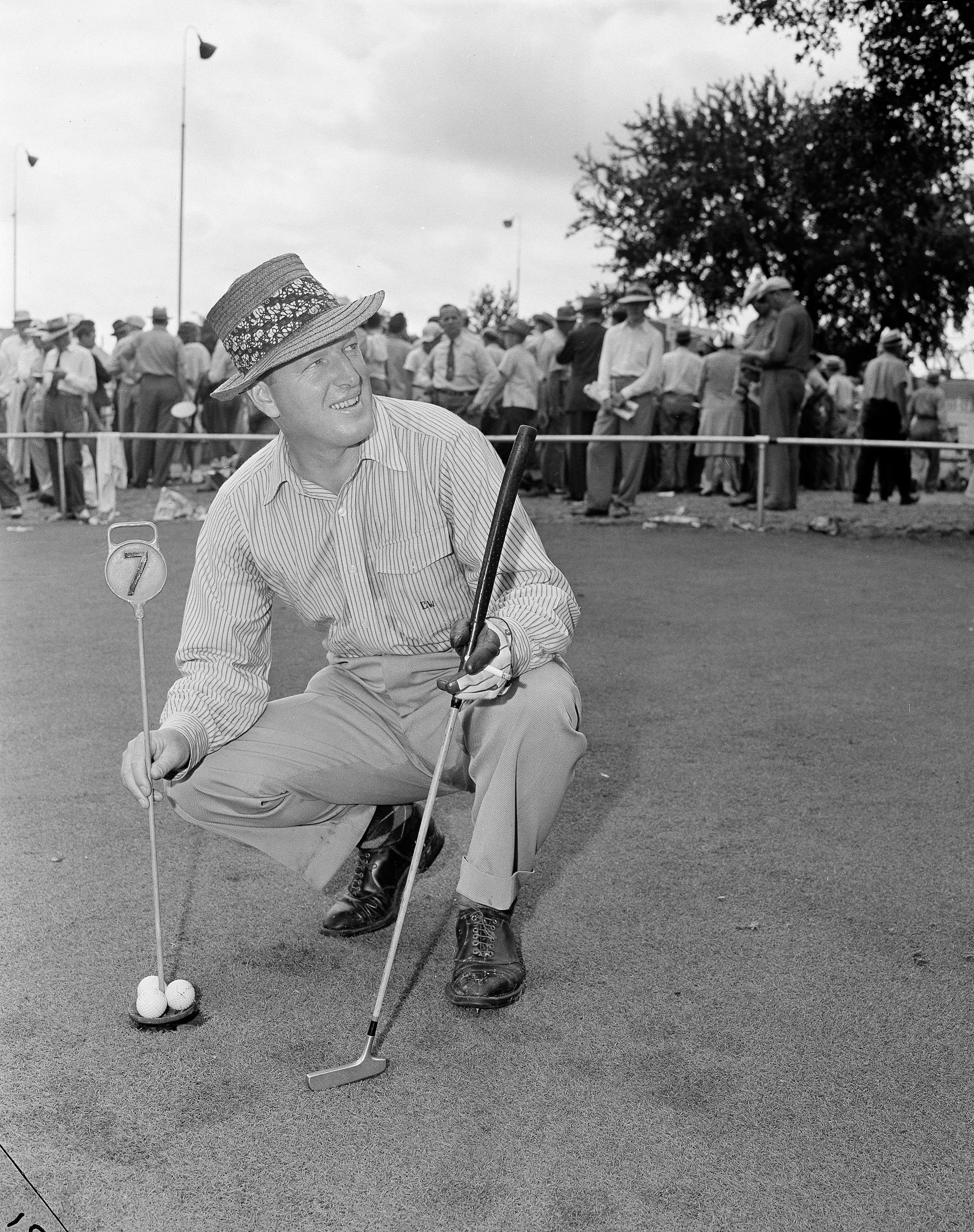 FILE - Craig Wood, winner of the U.S. Open golf tournament, poses for a photo on the final day at the Colonial Country Club in Fort Worth on June 7, 1941.