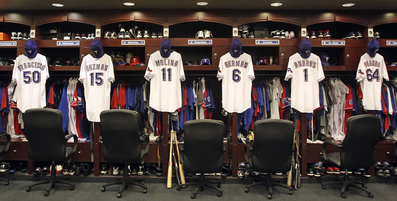 The odds of making it into the Texas Rangers locker room as a player aren't great, so maybe just take a tour of Globe Life Park.