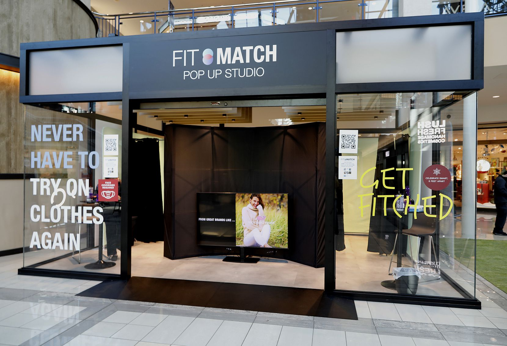 The FIT:MATCH popup studio at Stonebriar Centre in Frisco.