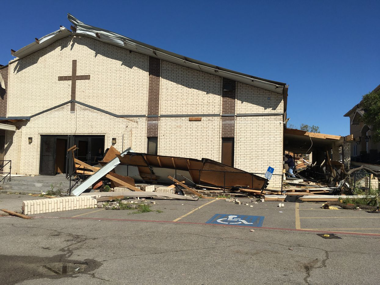 Primera Iglesia Dallas home on Walnut Hill Lane was destroyed during the tornado storm on Oct. 20, 2019.