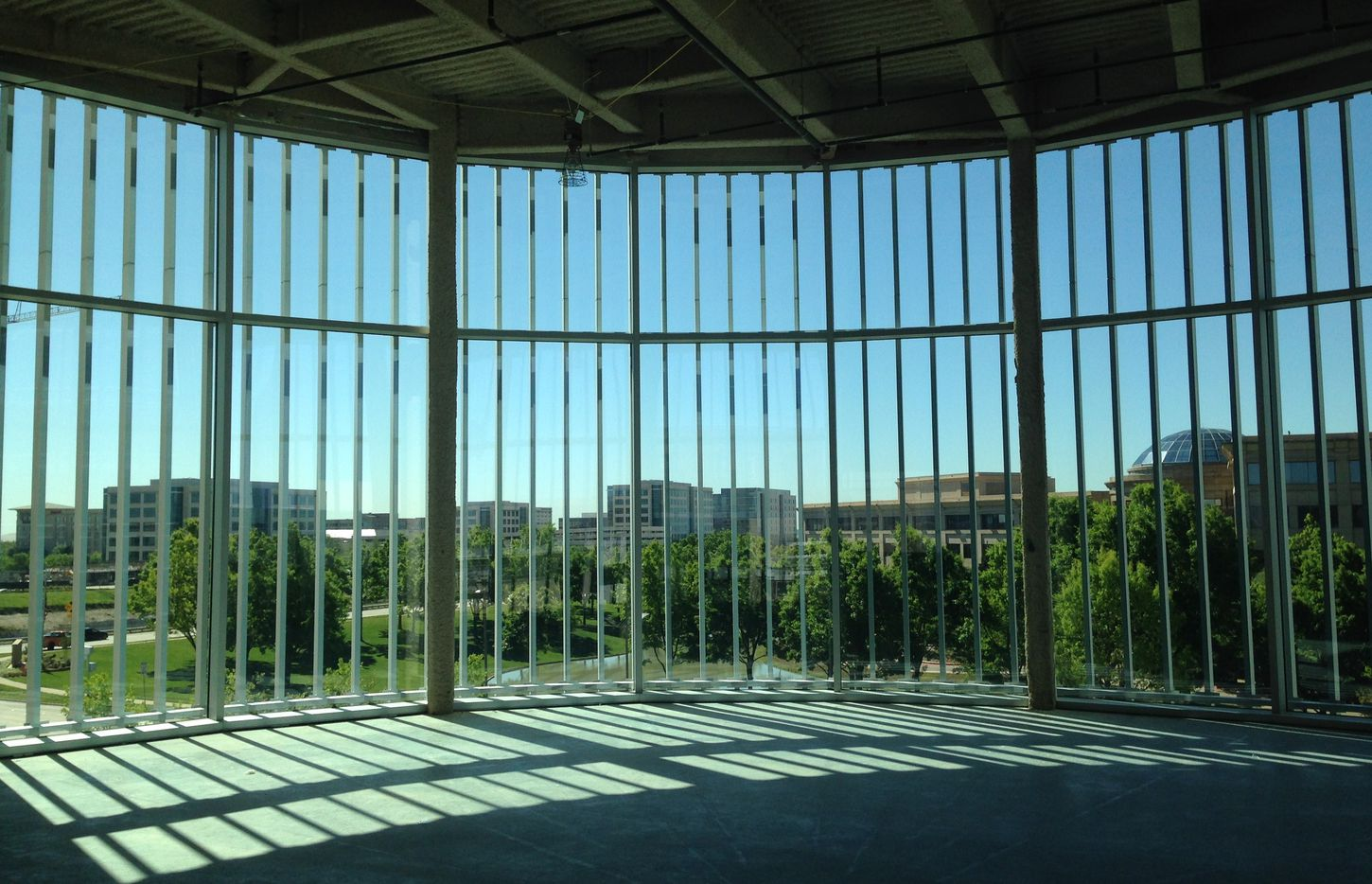 Boeing's future office in Legacy West looks out over Legacy business park.