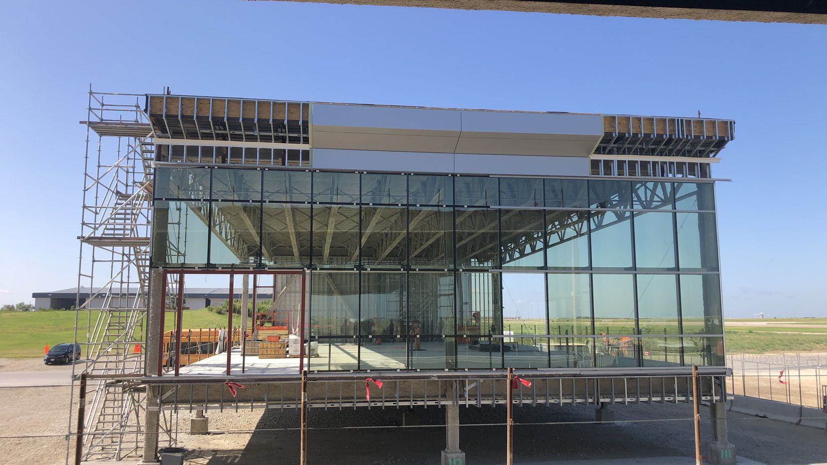 One of the six new modules that are being built off-site are shown at DFW International Airport on Aug. 11.