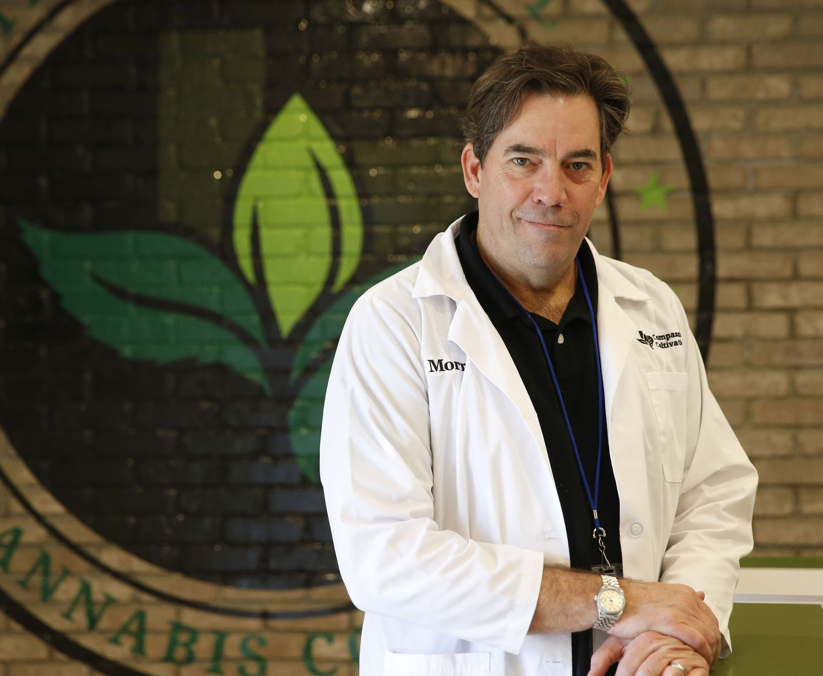Morris Denton, CEO of Compassionate Cultivation, started the company with four other Texas business partners. He's given tours to politicians and neurologists to show them how cannabis oil is made. He said the tours help to dispel myths about medical marijuana. (Vernon Bryant/The Dallas Morning News)