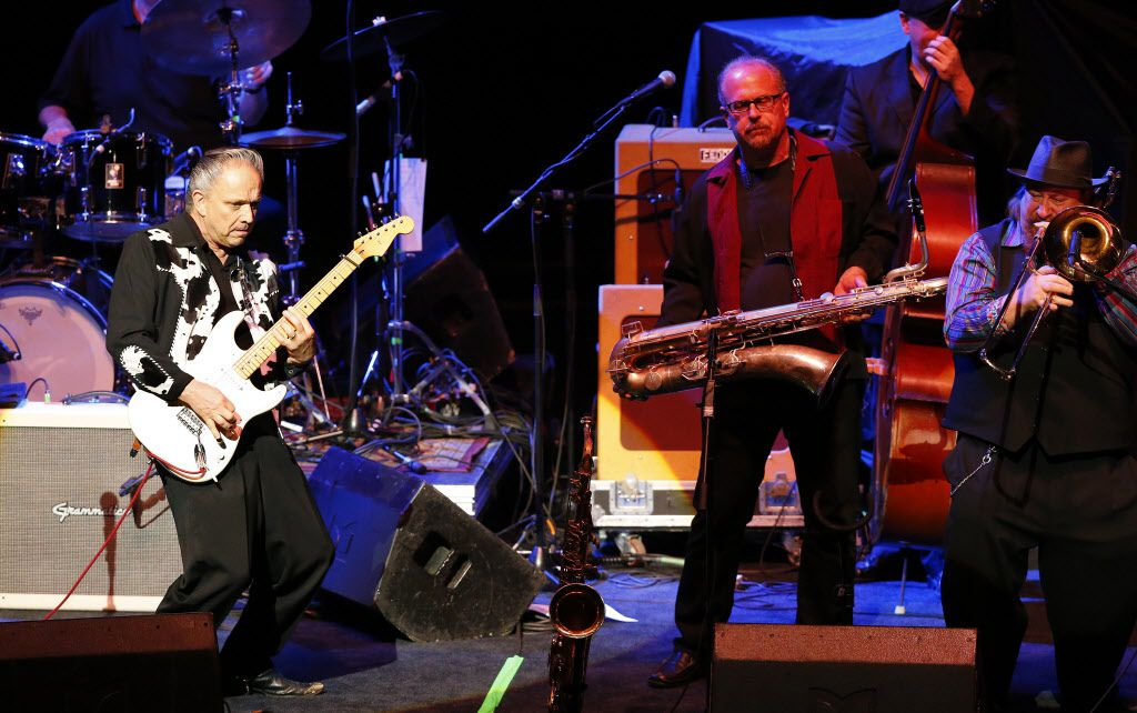 Jimmie Vaughan and the Tilt-a-Whirl Band opened for the Steve Miller Band at Verizon Theatre on Monday.