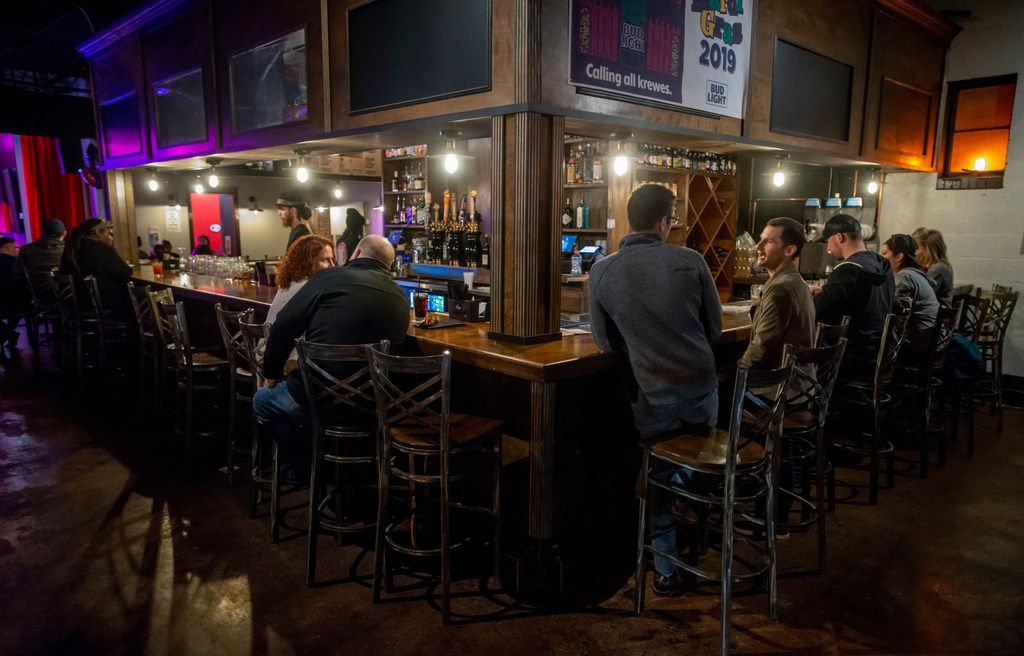 The bar on the Bourbon side of Free Man at 2626 Commerce St., in the Deep Ellum neighborhood of Dallas, Texas on March 30, 2019. (Robert W. Hart/Special Contributor)