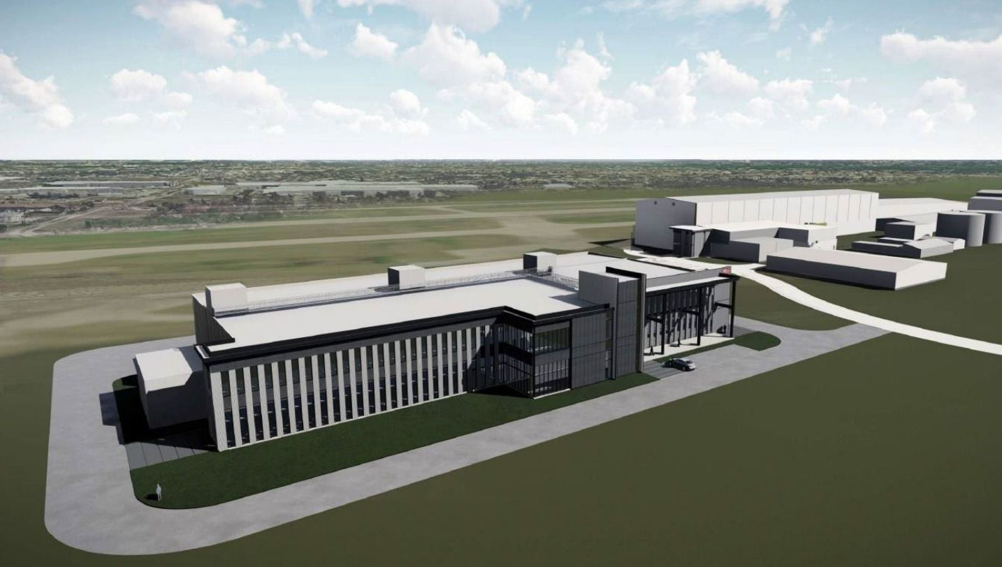 A rendering shows the systems integrations labs building that helicopter maker Bell plans to complete in 2023 in Arlington.