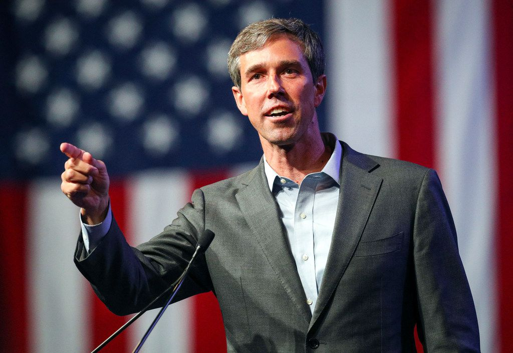 """FILE - In this June 22, 2018, file photo, Beto O'Rourke speaks during the general session at the Texas Democratic Convention in Fort Worth, Texas. For many Democrats, Beto O'Rourke's response to a question about NFL players kneeling during the national anthem was the type of moment that will be essential for a field that will challenge President Donald Trump beginning after the November elections. If there's a common buzzword in Democratic politics right now, it's """"authenticity,"""" or the desire to present candidates in an unvarnished manner that's true to themselves. (AP Photo/Richard W. Rodriguez, File)"""
