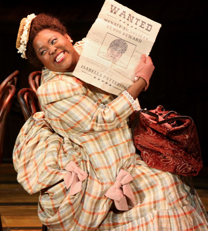 Ashley D. Kelley plays Bella in the world premiere of Kirsten Childs' Bella: An American Tall Tale for Dallas Theater Center at the Wyly Theatre in Dallas. The play runs through Oct. 22.