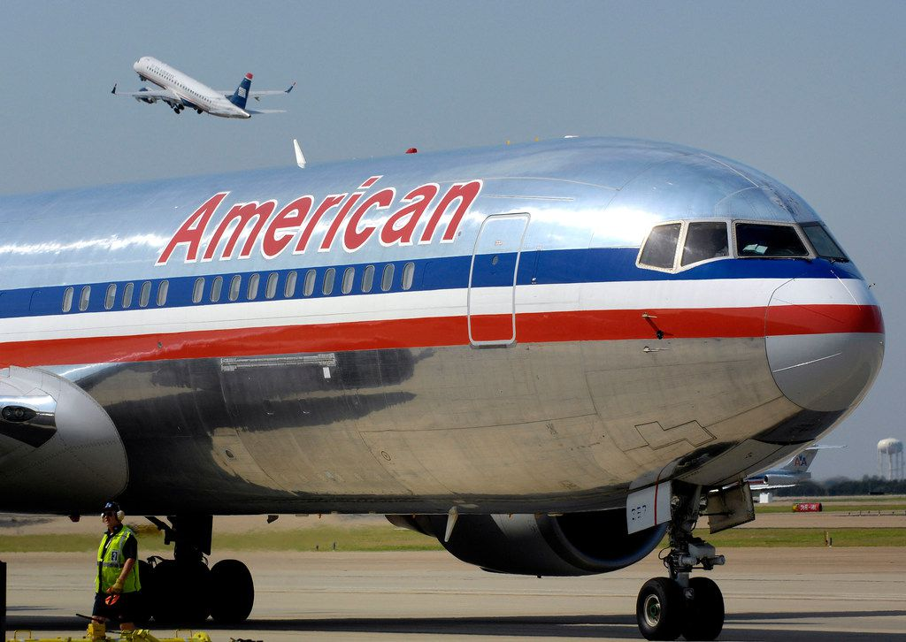 An American Airlines jet at Dallas-Fort Worth International Airport in 2013.