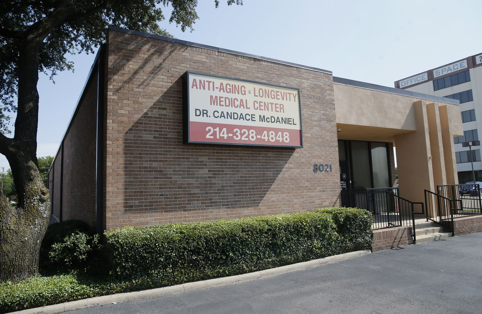 The Anti-Aging and Longevity Medical Center in Dallas on Thursday, August 7, 2020. This local addiction treatment center has stayed open during the COVID-19 pandemic to provide patients with access to medications that treat opioid addiction. (Vernon Bryant/The Dallas Morning News)