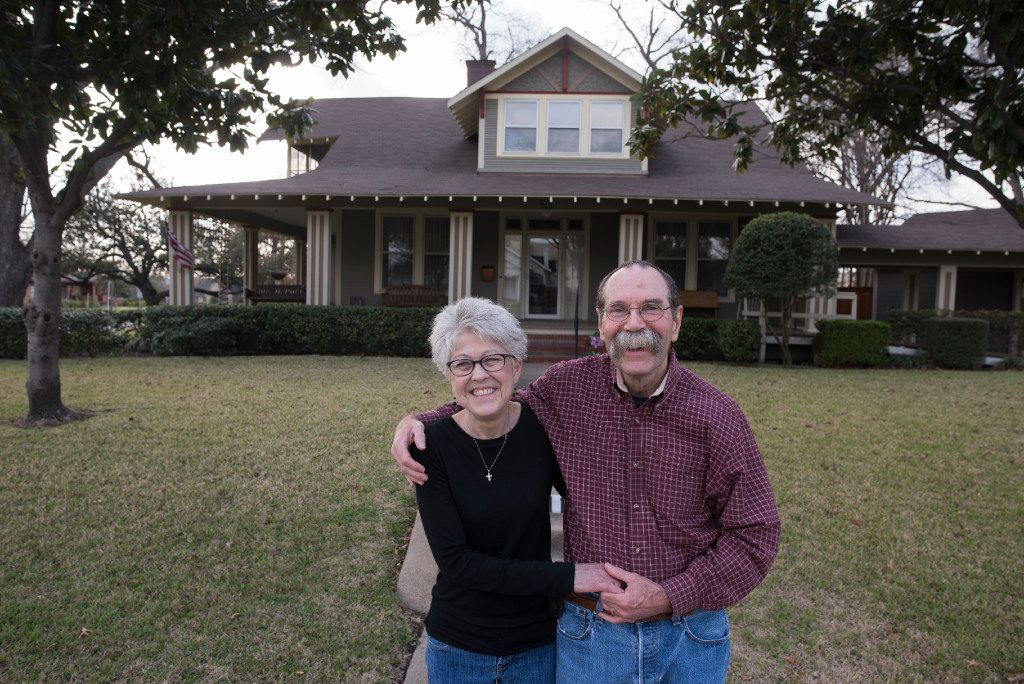 Cindy Bird and her husband, Jim, have lived in their 1913 Craftsman home for 12 years. Relying on Jim's skills from decades in construction and their historical research, they have made period-appropriate renovations to one of the three remaining homes built in 1913, the year Travis College Hill was platted.