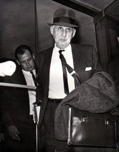 Dr. Manfred Guttmacher, a Baltimore psychiatrist, arrives to testify as a defense witness in the Jack Ruby murder trial, is shown in this file photo.