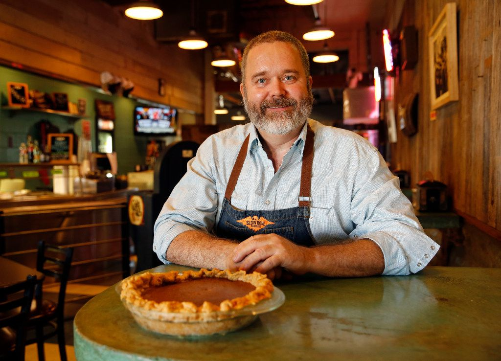 Slow Bone owner and pitmaster Jeffery Hobbs'  favorite Thanksgiving recipe is his Great Grandma Jeffery's Pumpkin Pie.