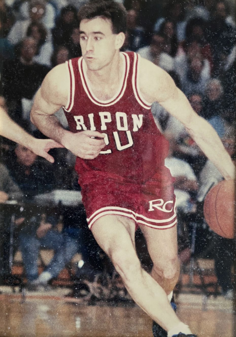 Dallas Stars CEO Brad Alberts is shown in 1992 when he was a college basketball superstar at Ripon College in Ripon, Wisc.