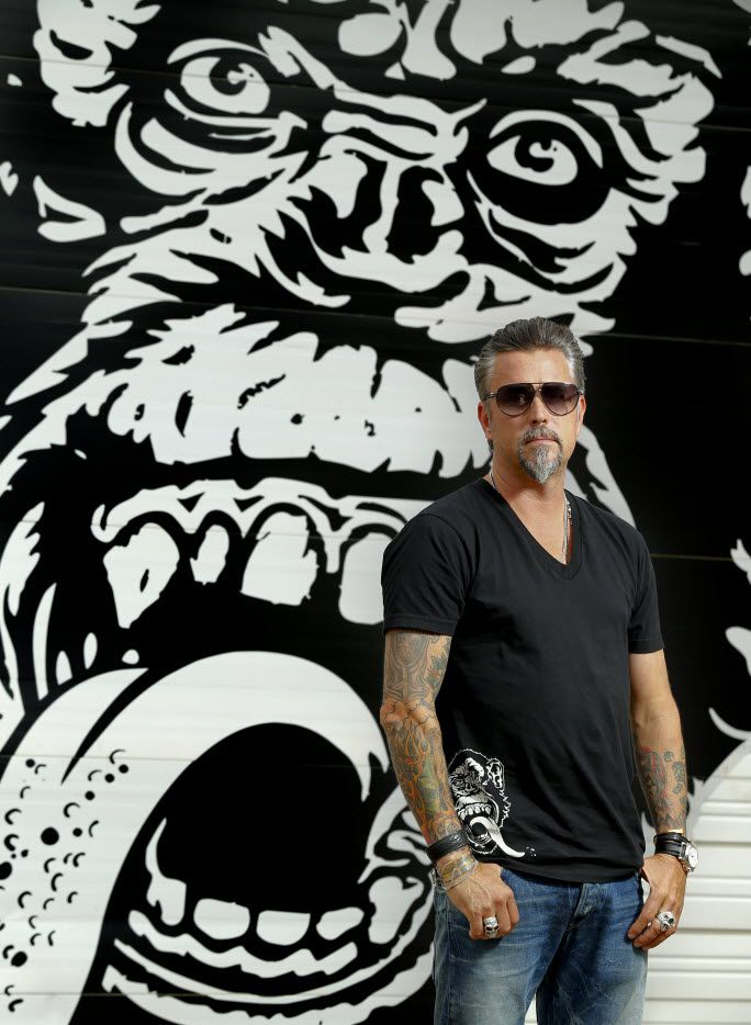 Richard Rawlings, the star of cable TV show 'Fast 'n Loud' and the founder of the growing and greasy Gas Monkey in Dallas poses for a photograph on May 6, 2015.