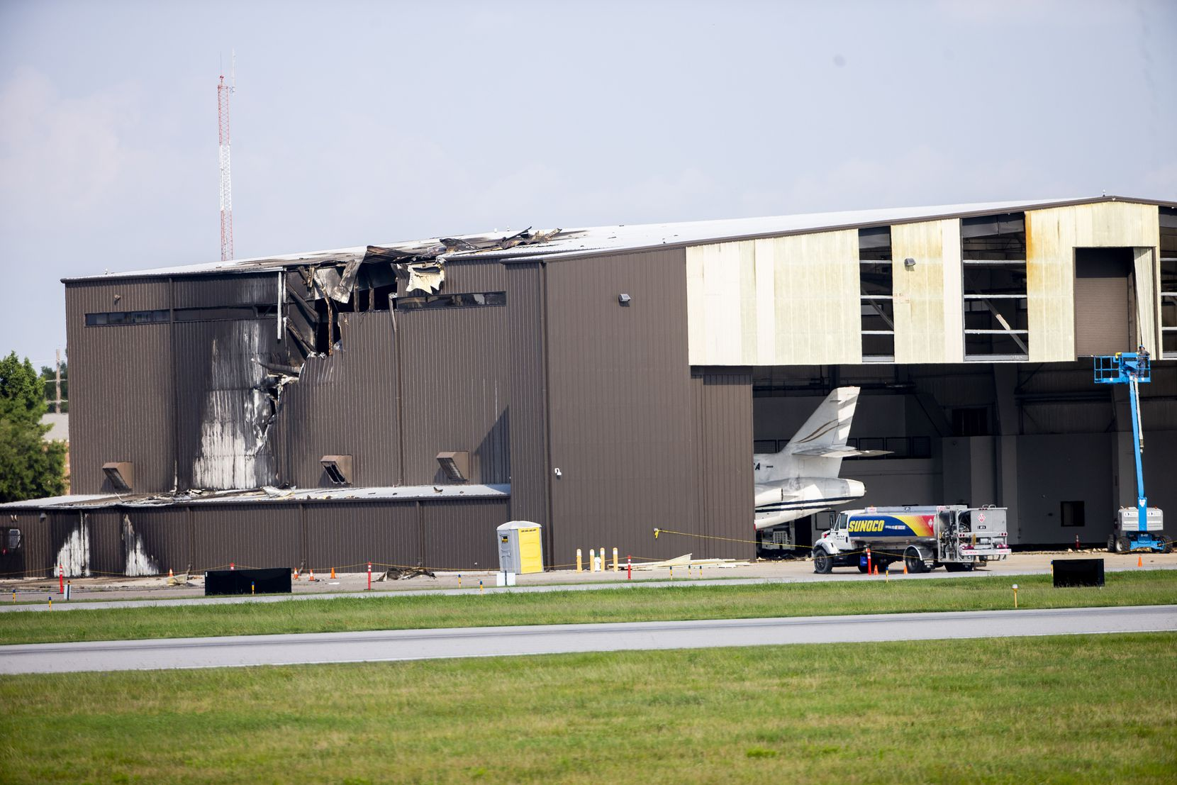 The Beechcraft Super King Air 350 crashed into a hangar at Addison Airport on June 30, 2019.