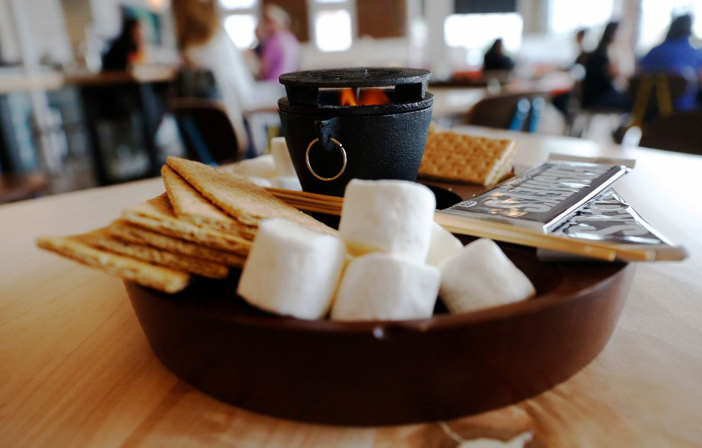 The S'mores Platter available at the Halcyon Coffee Bar and Lounge photographed on Tuesday March 28, 2017. The new coffee bar and lounge is located at 2900 Greenville Ave. in Dallas. (Ron Baselice/The Dallas Morning News)