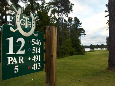 Hole 12 marker at Texarkana Golf Ranch.