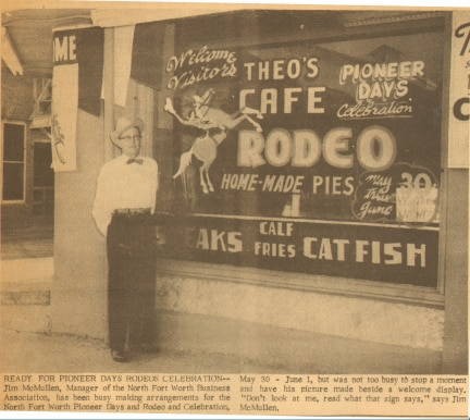 Riscky's began in the 1920s as Theo's Saddle and Sirloin Inn in the Stockyards.