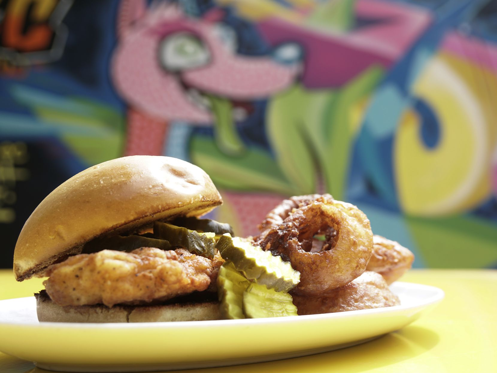 The Chicken Sandwich will be one of the dishes available in the beer garden at Trinity Groves in Dallas.