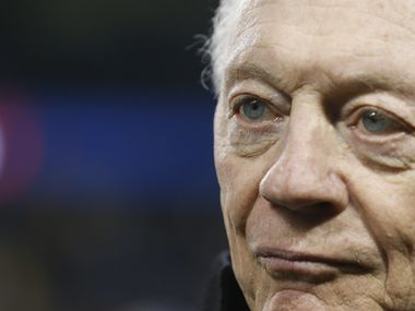 Dallas Cowboys owner Jerry Jones converses along the sidelines prior to a NFL matchup between the Dallas Cowboys and the Chicago Bears on Thursday, Dec. 5, 2019, at Soldier Field in Chicago.