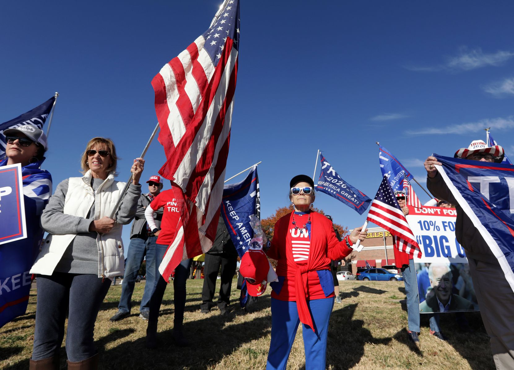 Trump supporters demonstrated in Plano on Dec. 12.