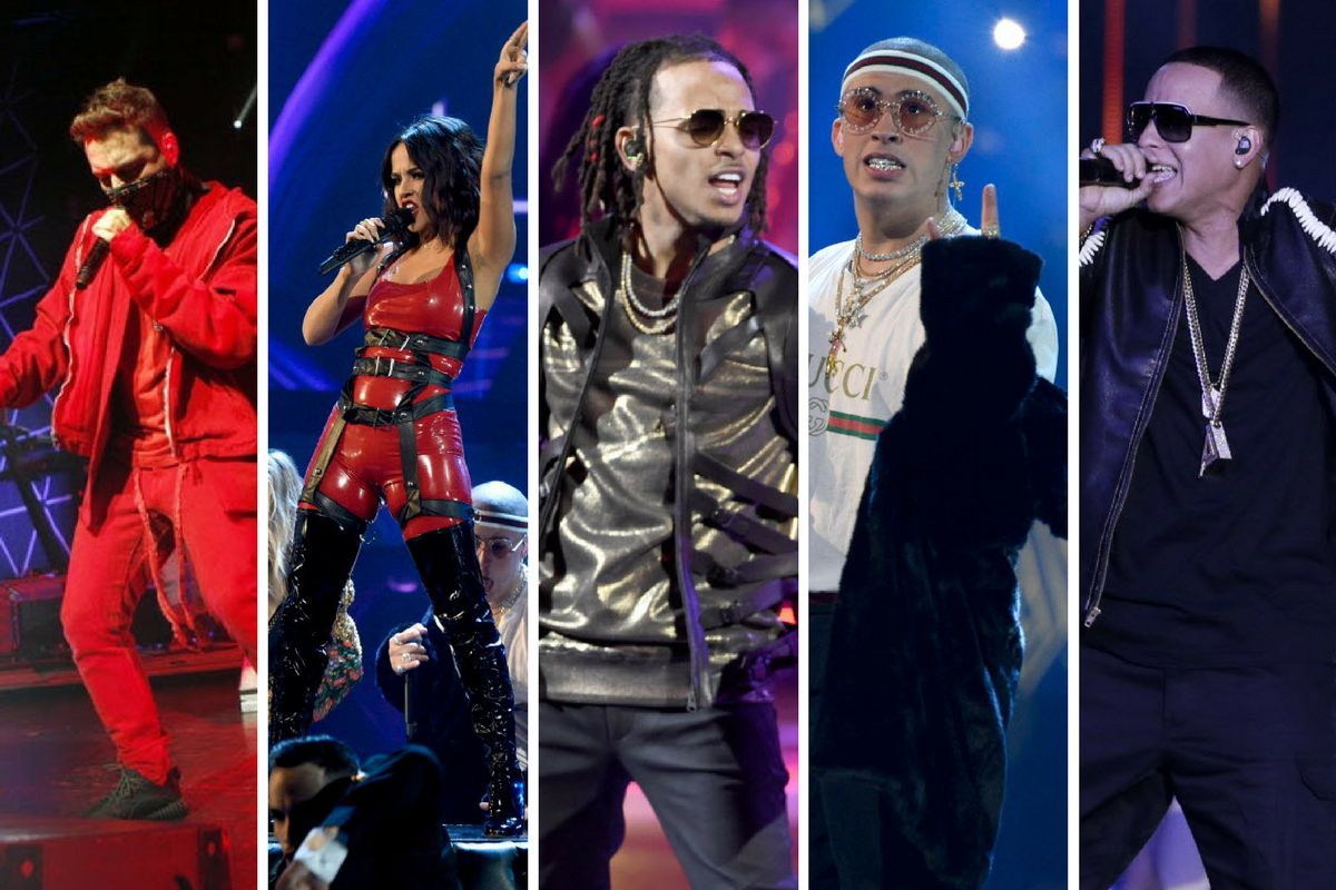 J Balvin, Becky G, Ozuna, Bad  Bunny, Daddy Yankee y más se presentan el domingo en el American Airlines Cener. /AP