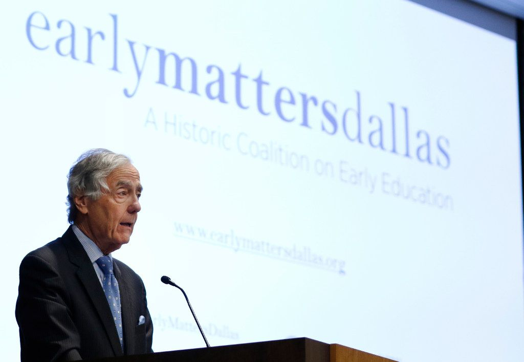George Kaiser, President, CEO & Owner GBK Corporation speaks at Easy Matters Dallas Inaugural Summit, hosted by the Federal Reserve Bank of Dallas on Tuesday, November 1, 2106. (David Woo/The Dallas Morning News)