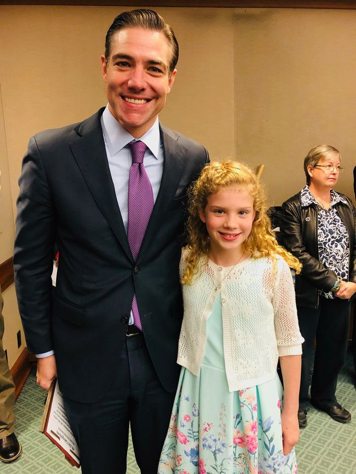 Lily Kay of East Dallas testified April 2, 2019, before a House panel at the Capitol in Austin. She wrote her representative, University Park Republican Rep. Morgan Meyer, to propose a bill to give Texas fifth-graders free entry to state parks.