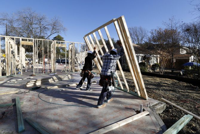 Builders are scrambling to keep up with buyers in some neighborhoods, which could keep a lid on homebuilding.