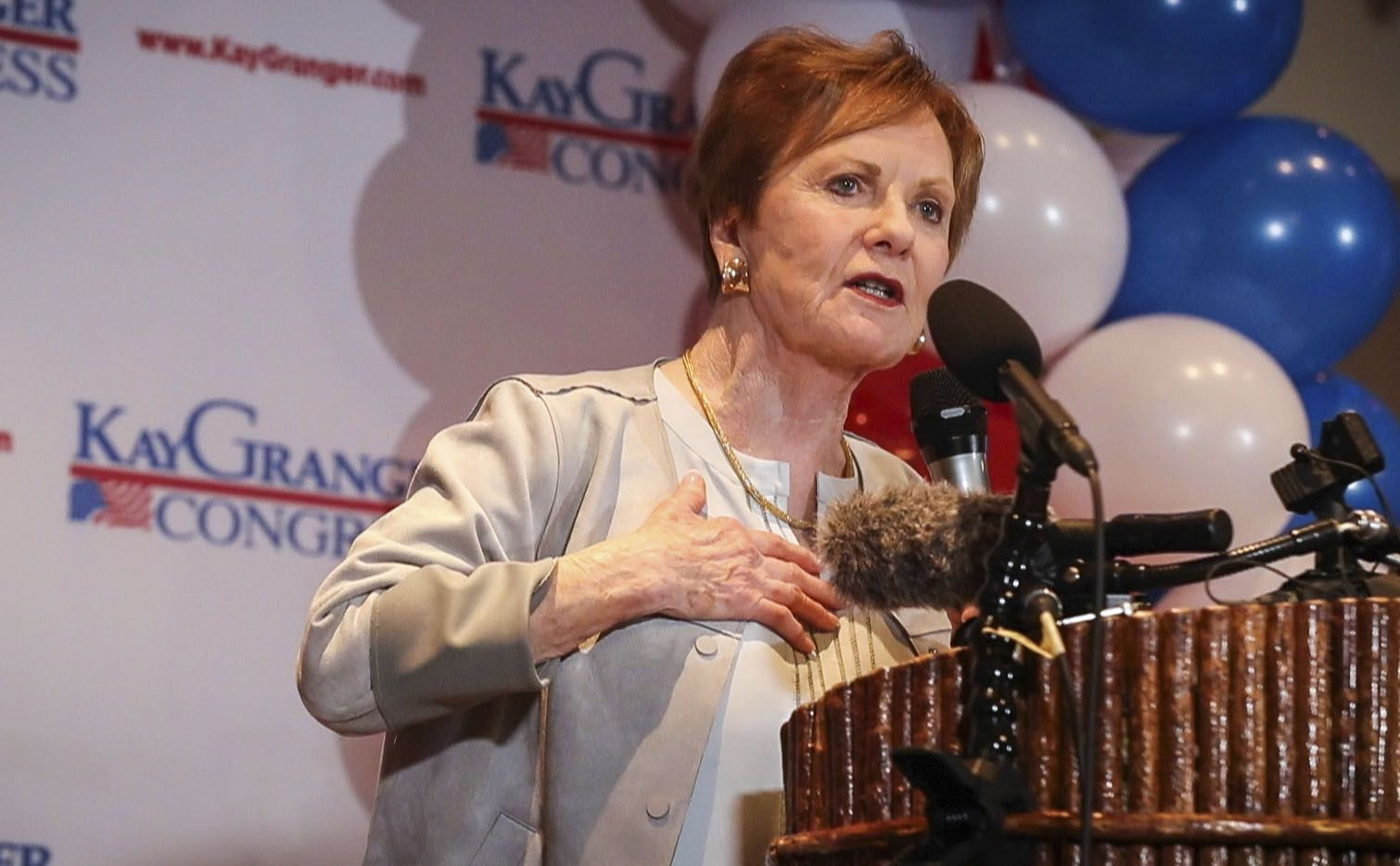 Rep. Kay Granger, R-Fort Worth, shown during an election night watch party, March 3, 2020, in Fort Worth, survived a tough GOP primary challenge. She benefited from the perks of incumbency, along with the support of President Donald Trump.
