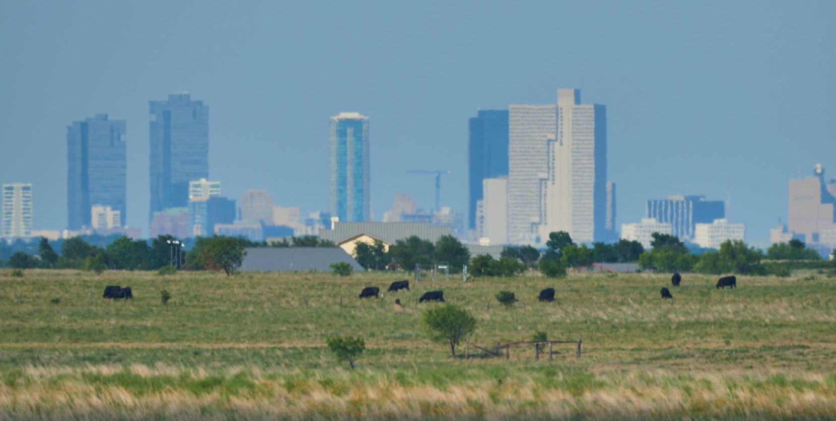 The almost 3,800-acre Veale Ranch is about 11 miles west of downtown Fort Worth.
