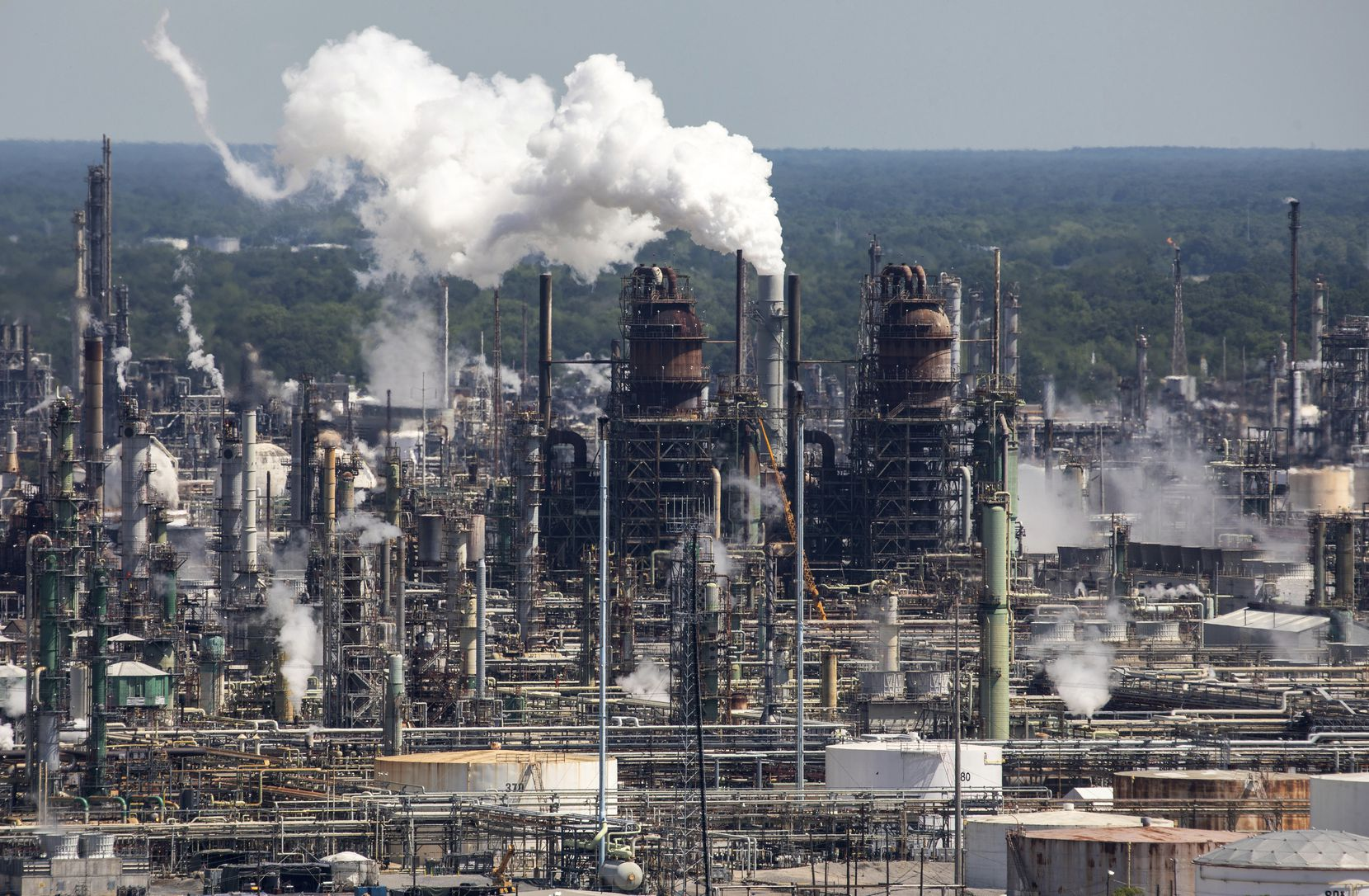 Cenikor sent participants to work at an Exxon refinery in Baton Rouge, among other places. (Julie Dermansky/for Reveal)