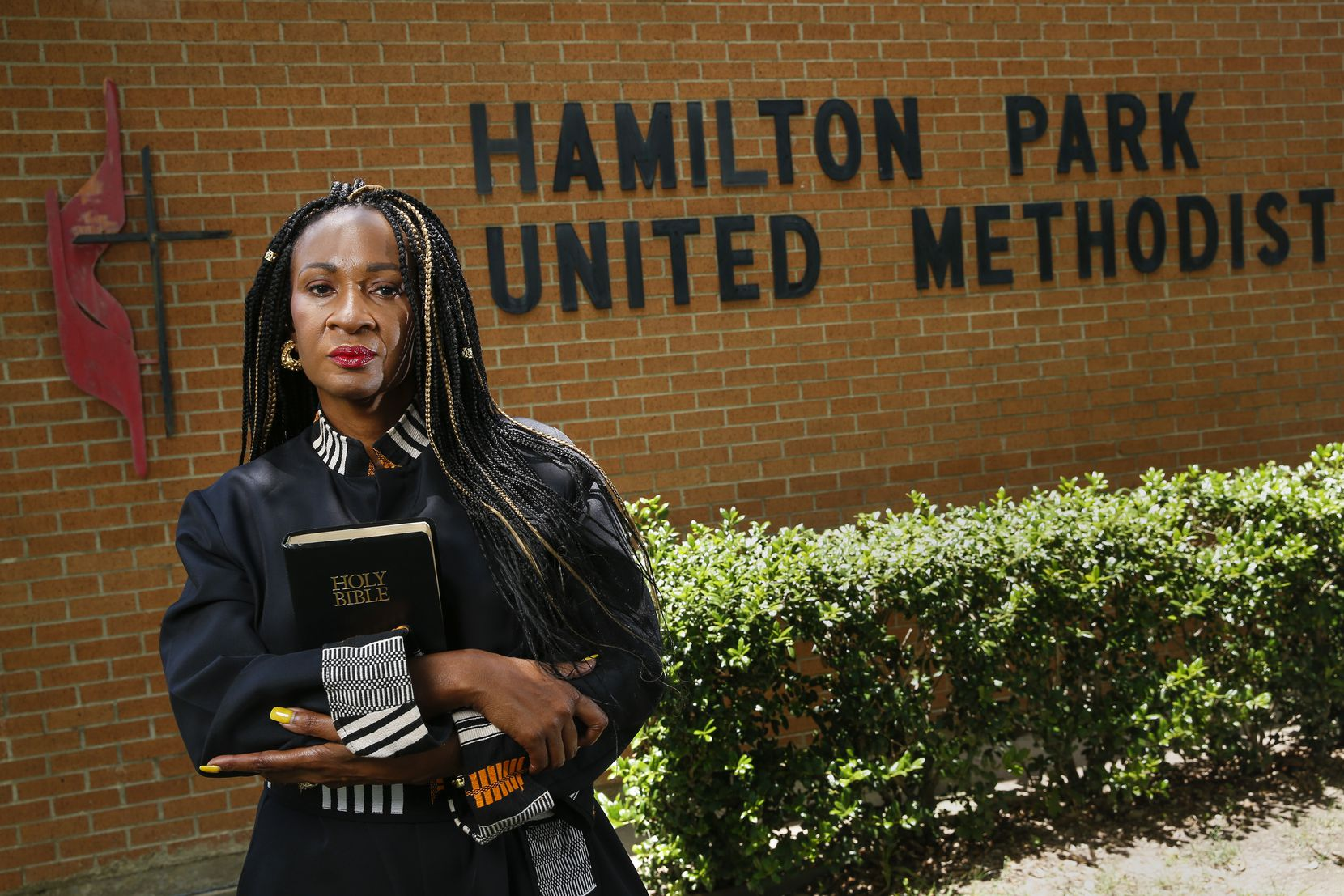 Senior Pastor Sheron Patterson at Hamilton Park United Methodist Church on Wednesday, June 3, 2020 in Dallas.   Psalm 27:1  - The Lord is my light and my salvation — whom shall I fear? The Lord is the stronghold of my life — of whom shall I be afraid?