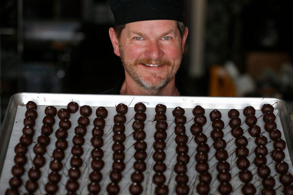 Chocolatier Kevin Wenzel of Wiseman House Chocolates.
